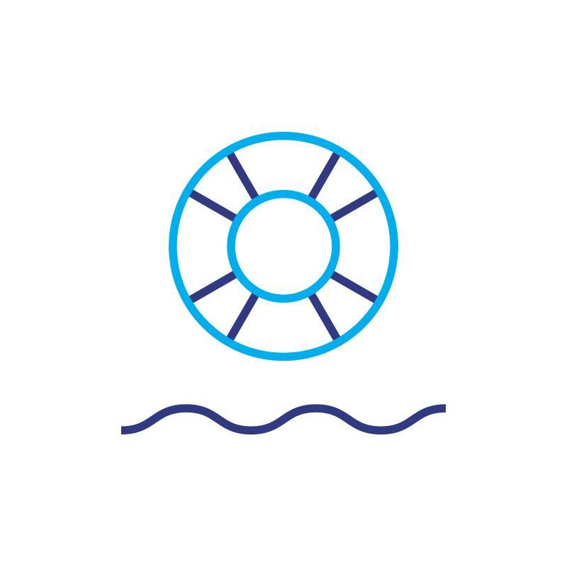 Koło ratunkowe niebieskie